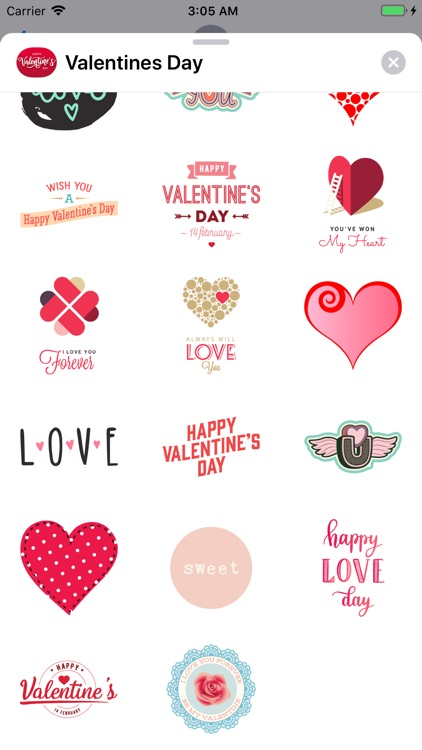 Valentines Day Stickers Pack screenshot-3