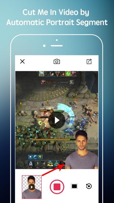 Cut Me In Video + Add Effect Screenshot on iOS