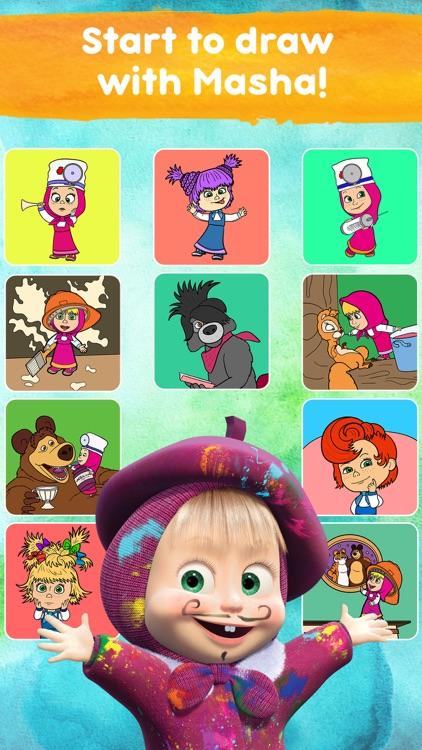 Masha and the Bear: Art Games screenshot-8