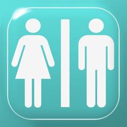 Restroom information map