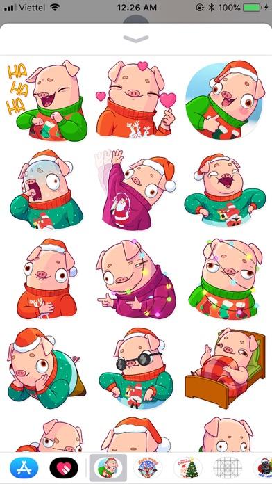 Christmas Piggy Funny Sticker screenshot 1