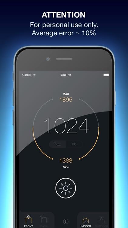 Lux Light Meter Pro screenshot-4