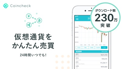 Coincheck-ビットコインなど仮想通... screenshot1