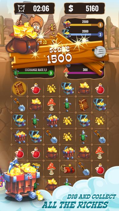 Gold Miner & Match 3 Tycoon screenshot 4