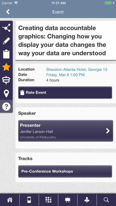 AAAL Conferences screenshot three