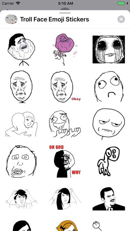 Troll Face Emoji Stickers screenshot-8