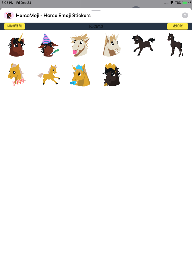 HorseMoji Horse Emoji Stickers Screenshot