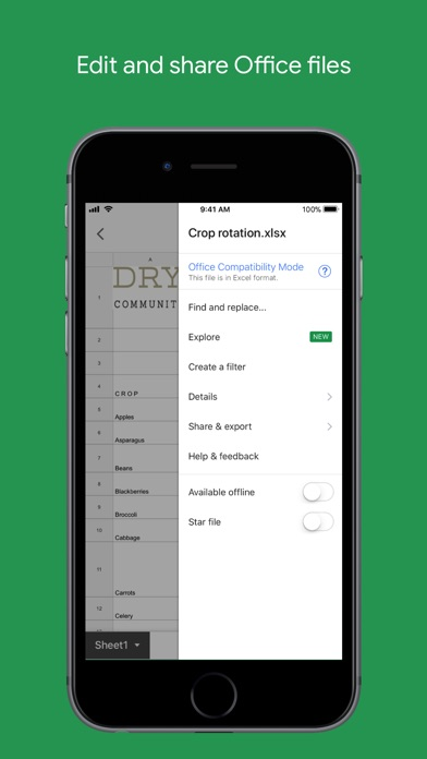 download Google Sheets apps 1