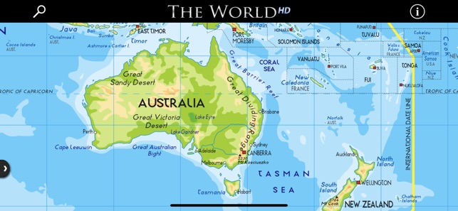 Great Sandy Desert World Map.The World Hd On The App Store