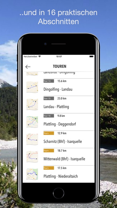 Screenshot for Bike&Nav Tourset ISAR-Radweg in Austria App Store