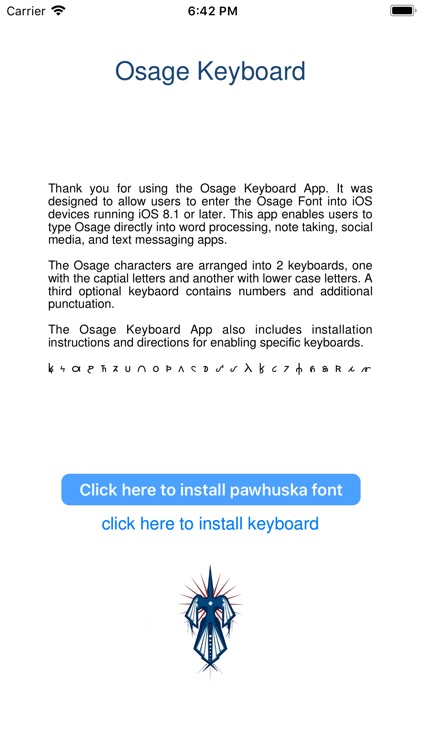 Osage Keyboard