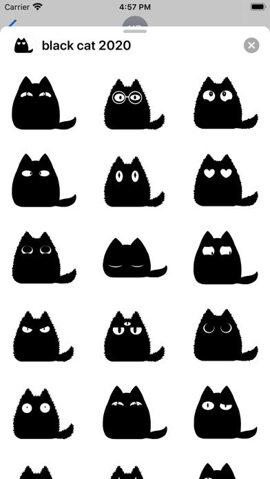 Black cat stickers - Cute emo screenshot 1
