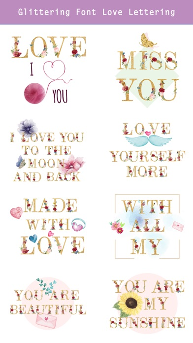 Valentine's Day Love Lettering screenshot 4