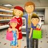 购物 商城 火柴人 家庭