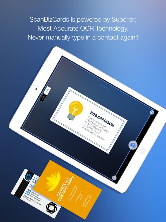 ScanBizCards Lite Business Card Scanner + Reader screenshot