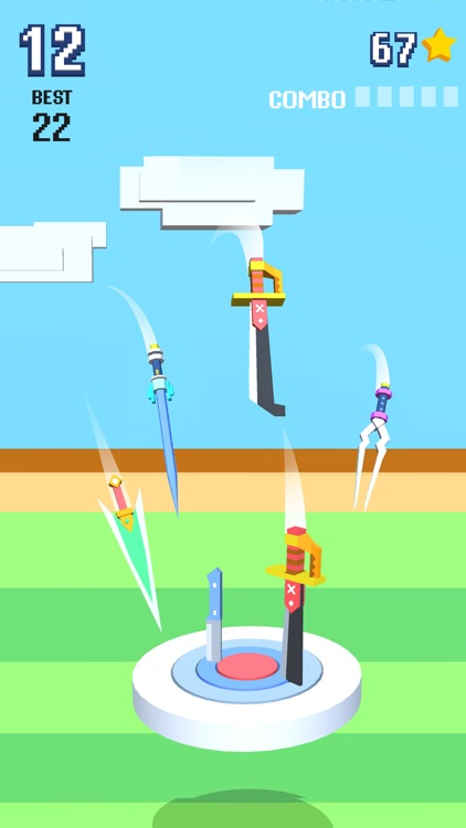 Knife Flip - Hit Geometry Cube screenshot-3