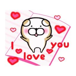 Valentine Cute Dog Stickers