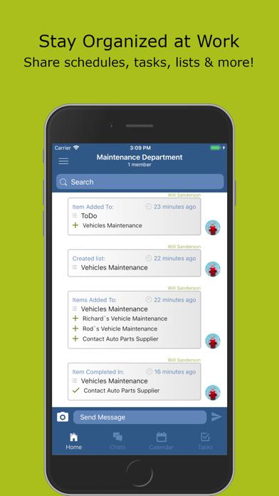 Workbase. Team Schedule Group.Screenshot of 1
