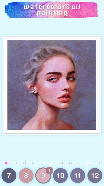 Watercolor & Oil painting game screenshot-8