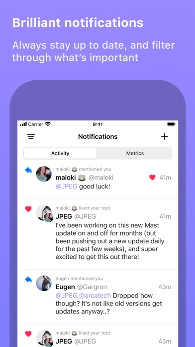 Mast: for Mastodon Screenshots