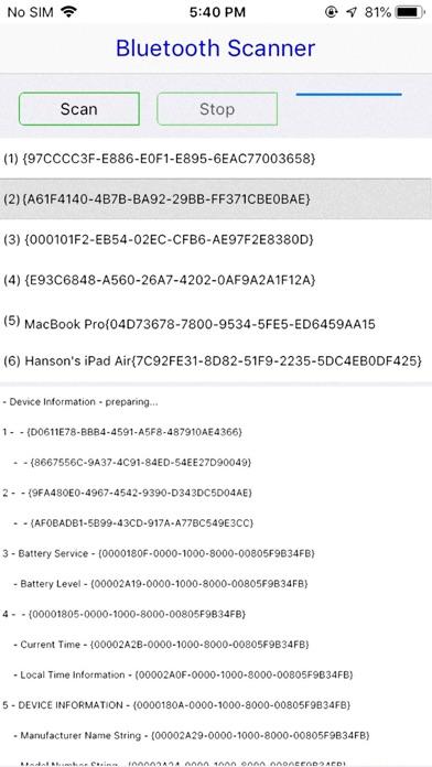 Ultra Bluetooth Scanner screenshot 1
