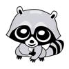 Huy Dao Van Hoang - Raccoon Cute Funny Stickers  artwork