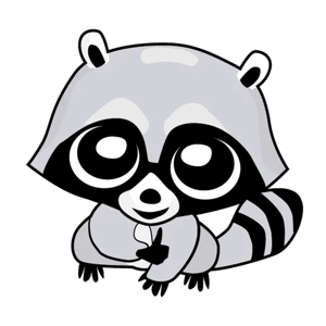 Raccoon Cute Funny Stickers - Stickers app