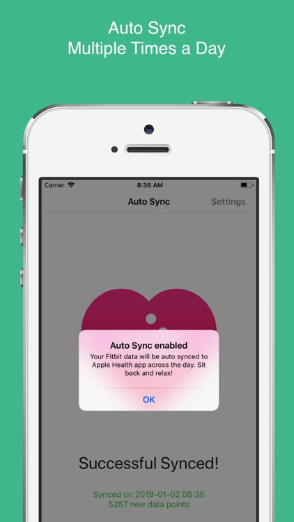 Auto Sync for Fitbit to Health screenshot-3