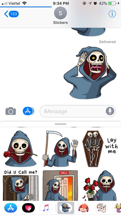 Death Pun Funny Stickers screenshot-3