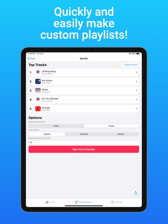 iPad Image of TuneTrack