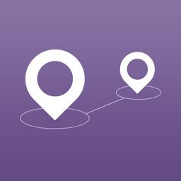 Ícone do app Pin Points Distance Calculator