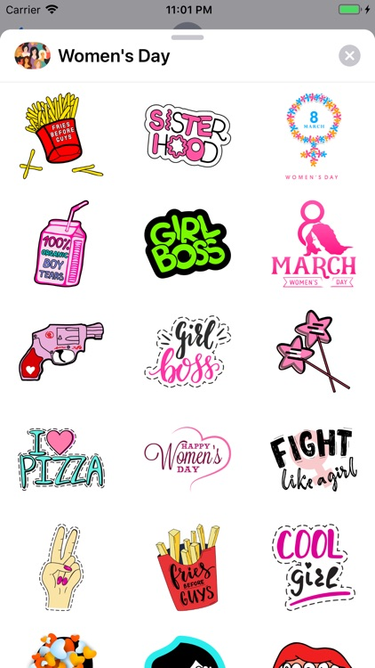 Feminist Women's Day Emojis