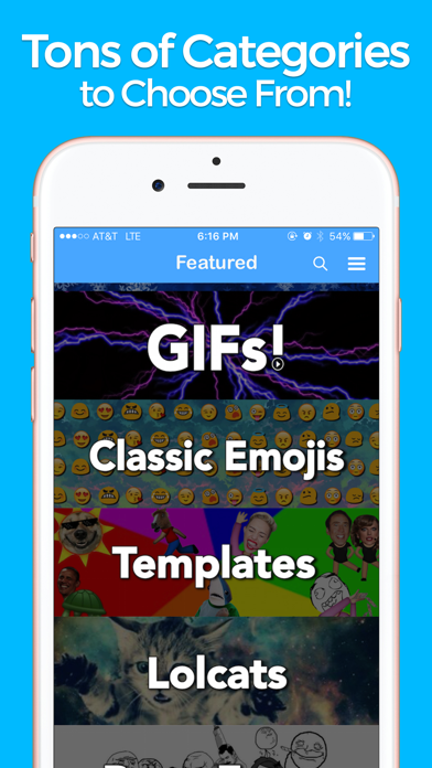YourMoji - Custom Emojis, GIFs screenshot two