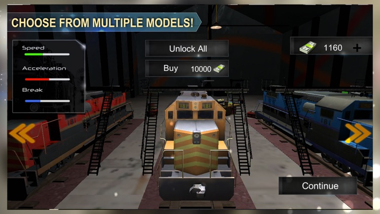 Cruise Train Driver Simulator