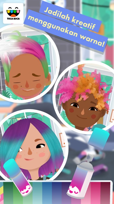 Screenshot for Toca Hair Salon 3 in Indonesia App Store