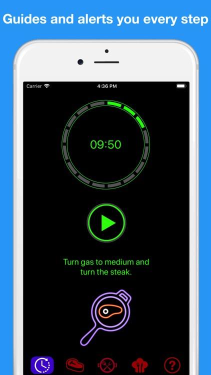 Perfect steak timer pro