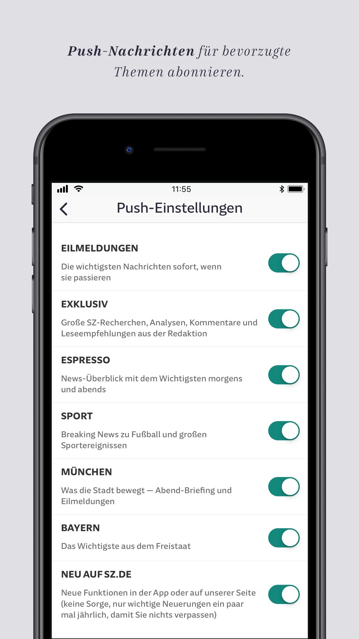 SZ.de Nachrichten Screenshot