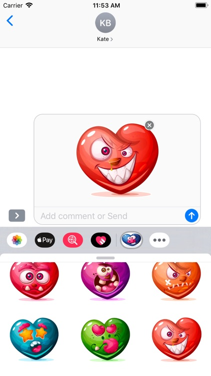 Dirty Hearts Stickers Pack screenshot-6