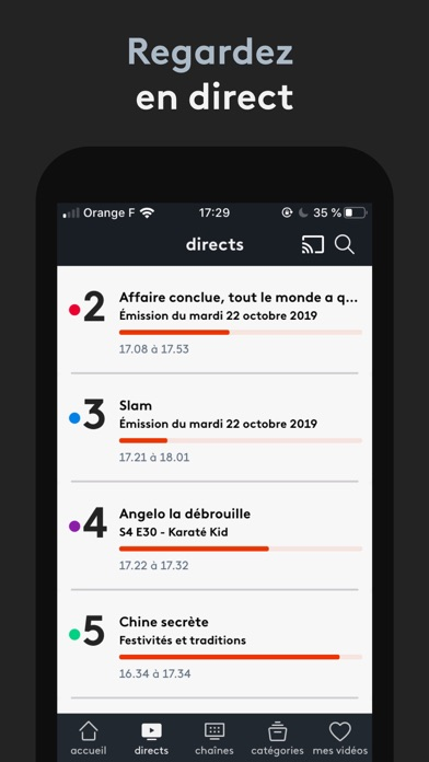 messages.download france.tv : direct et replay software