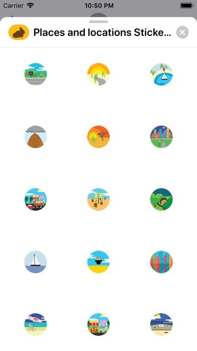 Screenshot for Places and locations Stickers in Italy App Store