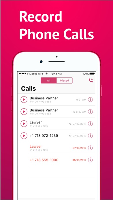 International Calls & Recorder Screenshot