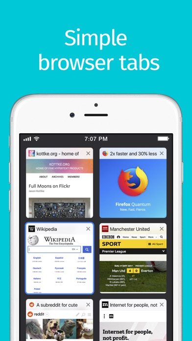 Screenshot for Firefox Web Browser in United States App Store