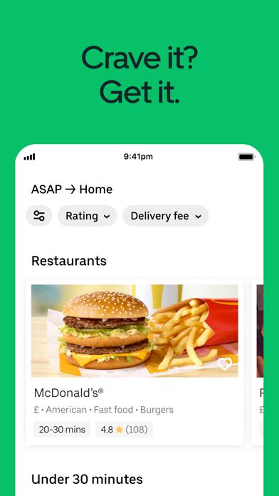 Uber Eats: Food Delivery screenshot one