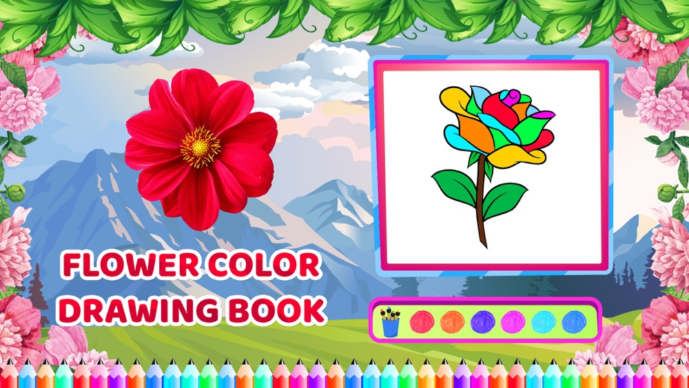 Flower Colour Drawing Book Free Download App For Iphone Steprimo Com