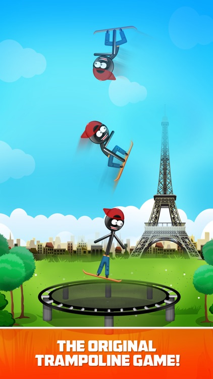 Stickman Trampoline Jumping screenshot-0