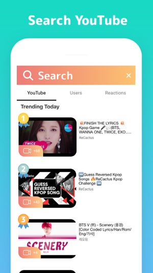 ReCactus - React to Videos on the App Store