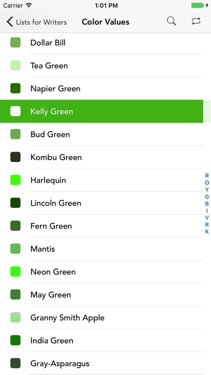 Lists for Writers screenshot-3