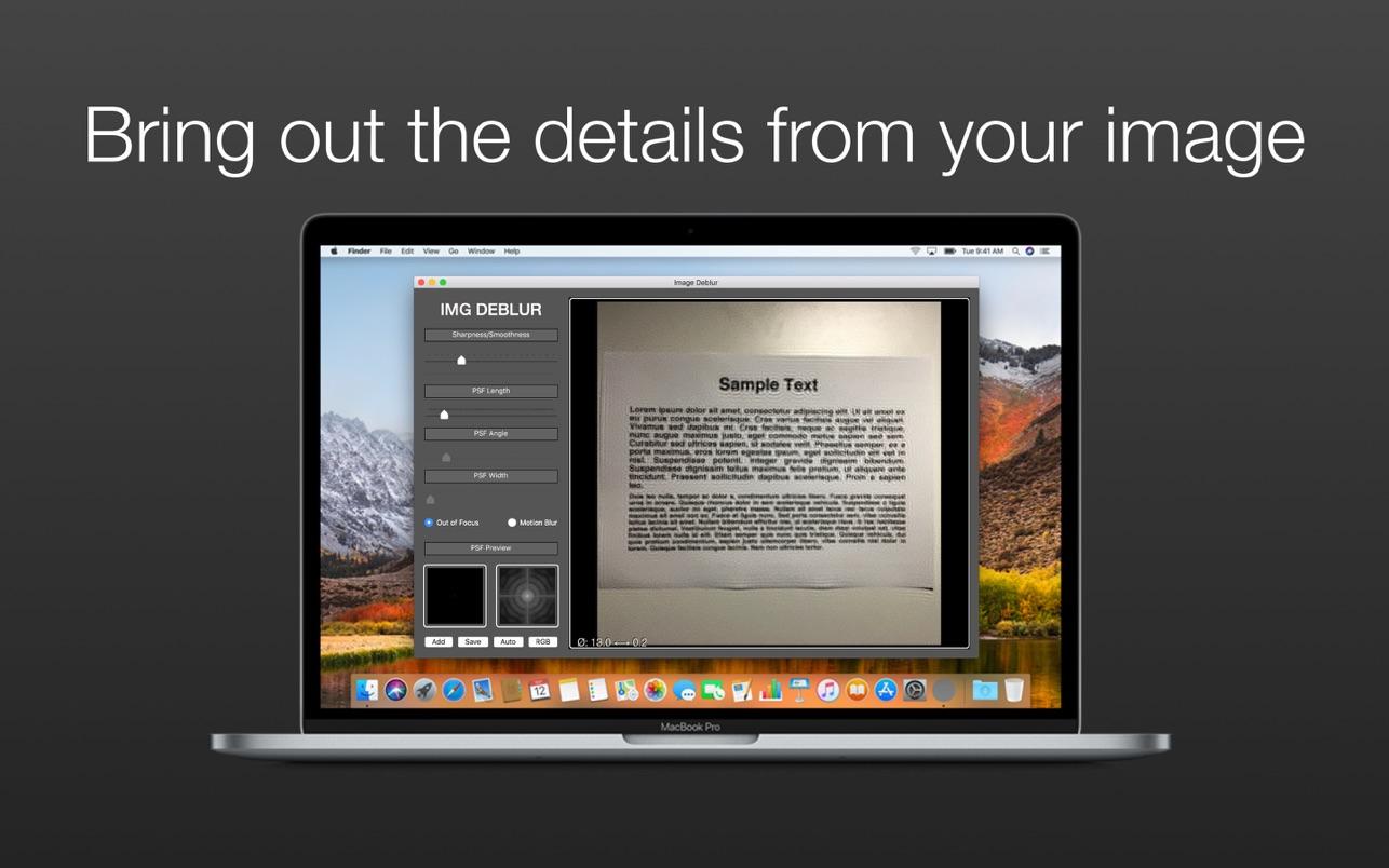 Image Deblur Blurred & Shaky 1.0.7 Mac 破解版 图像模糊效果处理工具-麦氪搜(iMacso.com)