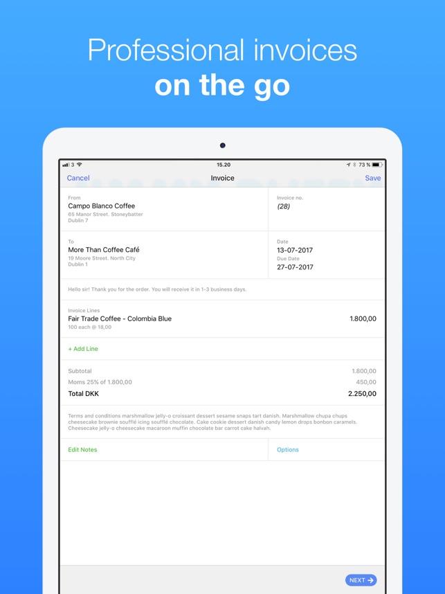 Rechnung Schreiben Debitoor Im App Store