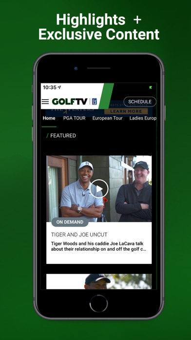 Screenshot for GOLFTV in Canada App Store